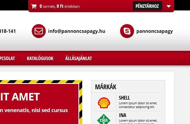 Web áruház készítés Webdesign